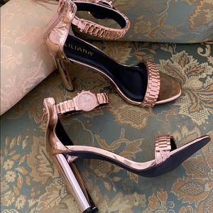 Liliana Rose Gold Watch Heels , size 11 !!!